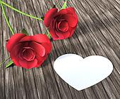 Heart Roses Indicates Valentine Day And Bloom