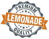 lemonade vintage orange seal isolated on white