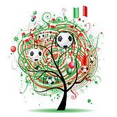 Football tree design, Mexican flag