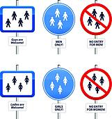 Signs Men and Women