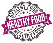 Healthy food violet grunge retro vintage isolated seal