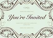Vector Blue Invitation Background