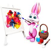 Bunny with painting