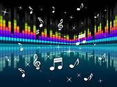 Music Background Means Harmony DJ Or Instruments