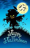 Halloween image with scarecrow