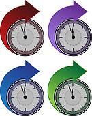 Forward Clock Arrow Set