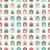 Animal seamless  pattern of kennel