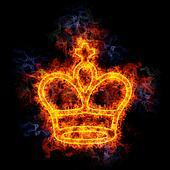 Fiery Chess king.