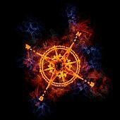 Fiery compass.