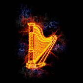 Fiery harp.