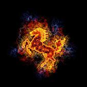 Fiery horse.