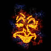 Fiery laughing face.