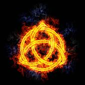 Fiery Celtic Knot.