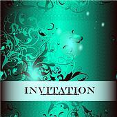 Invitation  design in elegant style