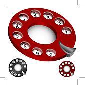 Rotary Phone Dial Set