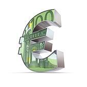 Shiny Euro Symbol - 100 Euro Note