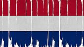 Netherlands Flag tinted vertical texture