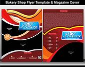 bakery shop flyer & magazine cover template