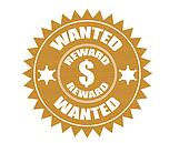 Wanted sticker vector illustration