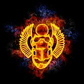 Fiery egyptian scarab.