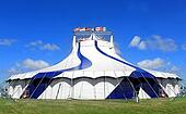 Circus tent in a field