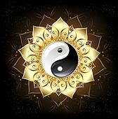 YinYang Golden Lotus