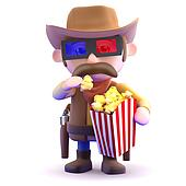 3d Cowboy at the movies