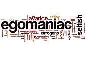 Egomaniac word cloud