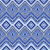 Hand drawn painted seamless blue pattern. illustration
