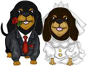 Dachshund Wedding