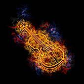Fiery violin.