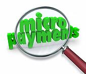 Micropayments Word Magnifying Glass Searching Tiny Money Amount