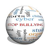Stop Bullying 3D sphere Word Cloud Concept