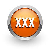 xxx orange glossy web icon