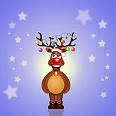funny reindeer at Christmas
