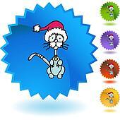 Skinny Christmas Cat