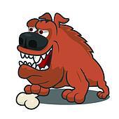 Brown cartoon dog