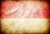 Grunge rubbed flag series of backgrounds. Indonesia.