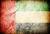 Grunge rubbed flag series of backgrounds. United Arab Emirates.