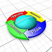 Risk management process organigram