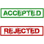 rejected and accepted stamps