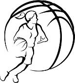 Clip Art Girls Basketball Clipart girls basketball clip art royalty free gograph girl dribbling a basketball