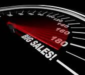 Big Sales - Words on Speedometer