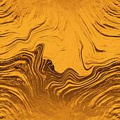 Golden Fluid Swirls Seamless Background