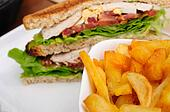 Sandwich and French fries