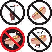 No Food or Drink Sign