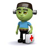3d Frankenstein is a first responder