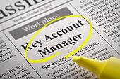 Key Account Manager Vacancy in Newspaper.