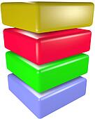 Data storage ,cube 3D technology symbol stack