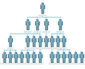 Organization corporate hierarchy chart people shadow
